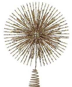 Gold Glitter Burst Tree Topper - 38cm