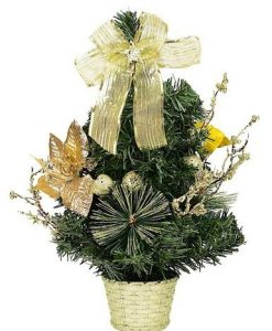 Table Top Tree in Gold Theme - 40cm