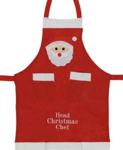 Felt Head Christmas Chef Apron - 1 size fits most