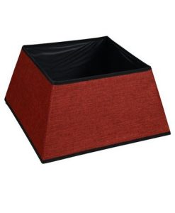 Square Red Tree Skirt - 48cm