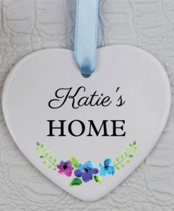 Home Personalised Heart Ornament