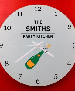 Champagne Party Wall Clock