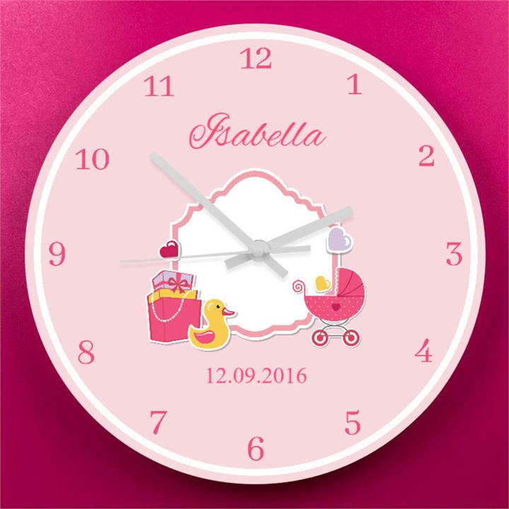 Baby Girl's Wall Clock
