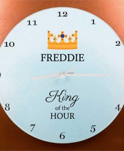 The King's Personalised Wall Clock