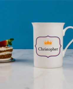 Regal Crown Personalised Bone China Mug