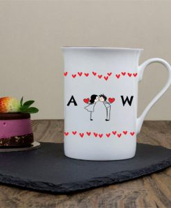 Loved-up Couples Personalised Bone China Mug