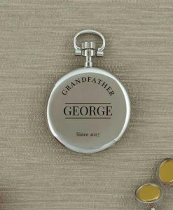 Personalised Silver Skeleton Faced Pocket Watch