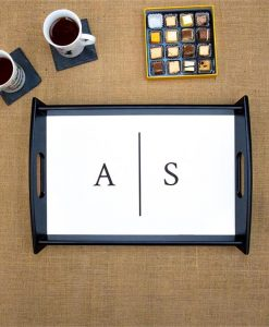 Initials Personalised Serving Tray
