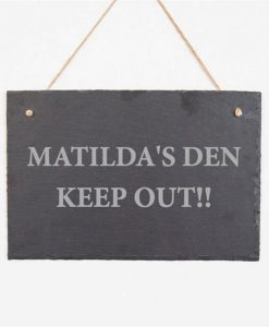 Their Den Personalised Slate Sign