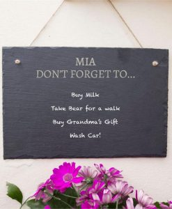 Don't Forget List Personalised Slate Sign