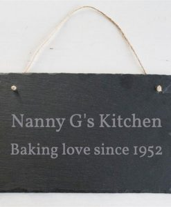 Baking Love Personalised Slate Sign