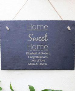 Home Sweet Home Personalised Slate Sign