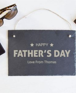 Father's Day Star Personalised Slate Sign