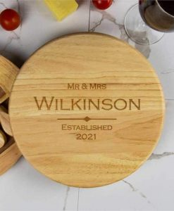 Couples Personalised Cheese Board Set