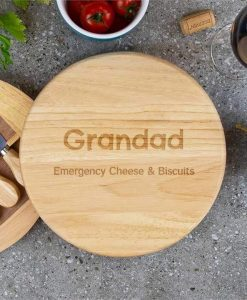Two Line Personalised Cheese Board Set