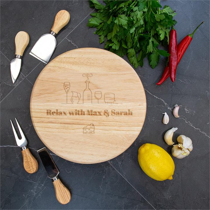 Paired Wooden Cheese Board Set