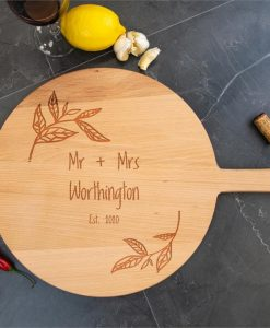 Flora Personalised Wooden Cheese Board