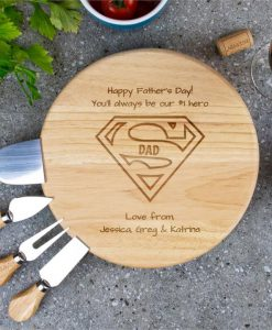 Super Personalised Cheese Board Set