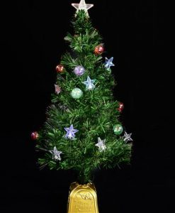 LED Star & Bauble Fibre Optic Tree - 1.5m
