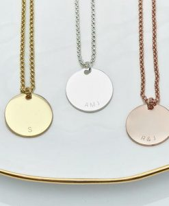 Personalised Initial Curve Charm Necklace