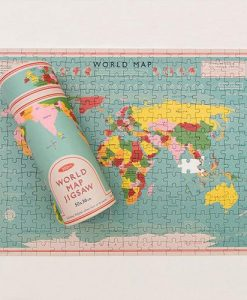 World Map Puzzle In A Tube