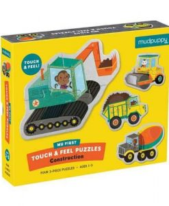 MudPuppy Construction Touch & Feel puzzle