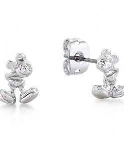 Disney Junior Mickey Mouse White Gold Stud Earrings