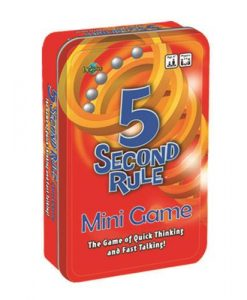 5 Second Rule Tin Game