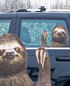 Sloth Car Window Sticker