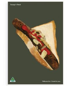 Sausage In Bread Tea Towel
