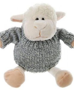 Lambert the Lamb in Grey Knitted Jumper