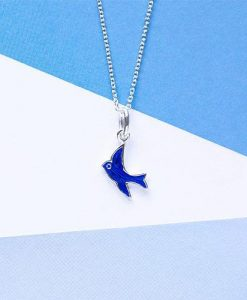 Tiny Treasures Sterling Silver Bluebird Necklace