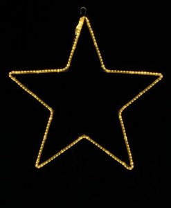 Five Point Christmas Star LED Strip Lighting Silhouette - 55cm