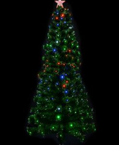 Multi Colour With Bauble Decorations Fibre Optic Tree - 1.8m