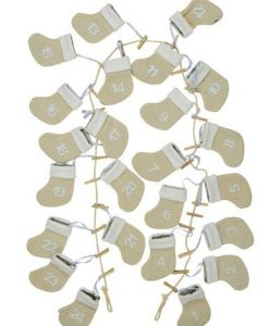 Jute Mini Stocking Advent Calendar Clothesline String - 1.7m