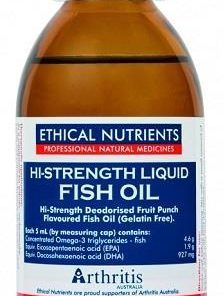 Hi Strength Liquid Fish Oil 170ml by Ethical Nutrients