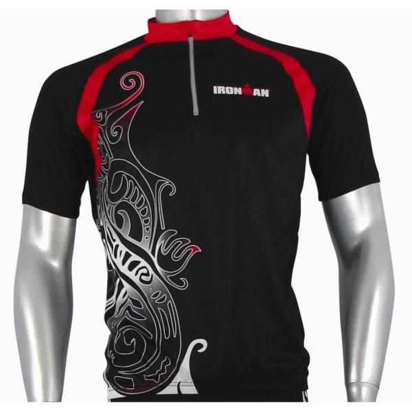 Ironman Short Sleeve Unisex Cycle Jersey - Black/Red