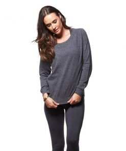 Bayse Slouch Crew Womens Training Sweater - Charcoal