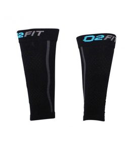 o2fit Unisex Compression Recovery Calf Sleeves - Black