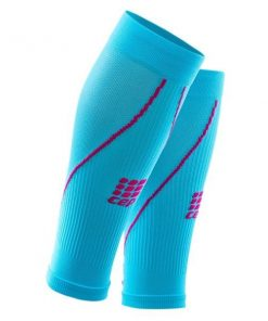 CEP Compression Calf Sleeves 2.0 - Blue/Pink + Free Running Socks
