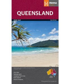 Hema Queensland State Map - Large Format
