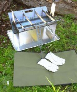 Slot Me In The Wedge Fire Pit & Camp Cooker - Ultimate Combo Kit