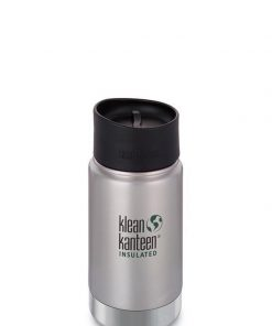 Klean Kanteen 12oz Wide Vacuum Insulated Bottle - Cafe Cap - Stainless