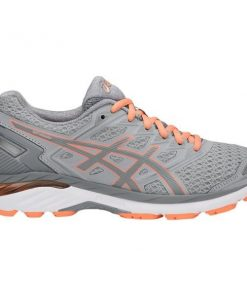 Asics GT-3000 5 - Womens Running Shoes - Mid Grey/Stone Grey/Canteloupe