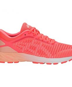 Asics DynaFlyte 2 - Womens Running Shoes - Flash Coral/White/Apricot Ice