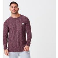 Performance Long-Sleeve Top - XS - Burgundy Marl