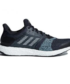 Adidas Ultra Boost ST Parley - Mens Running Shoes - Legend Ink/Clear Mint/High-Res Aqua
