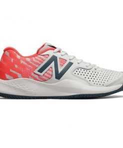 New Balance 696v3 - Womens Tennis Shoes - White/Coral/Navy