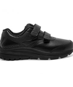 Brooks Addiction Walker 2 Leather Velcro - Womens Walking Shoes - Black