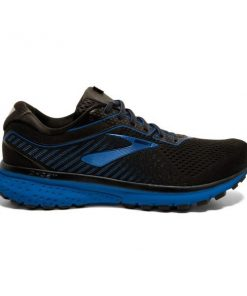 Brooks Ghost 12 - Mens Running Shoes - Black/True Blue